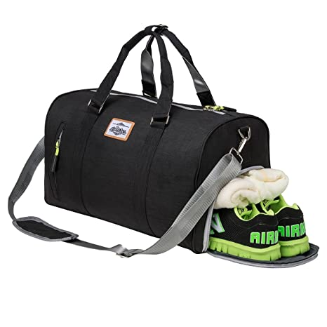 bd9e6c067cc Image Unavailable. Image not available for. Color  Sport Gym Bag with Shoe  Compartment ...