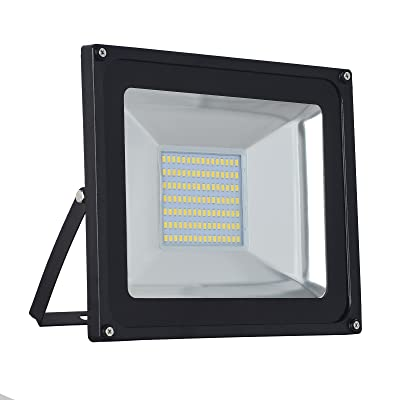 1-Pack 100W LED Floodlight, Low-Energy Warm White Spotlight, IP65 Waterproof Outdoor&Indoor Security Flood Light Landscape Lamp