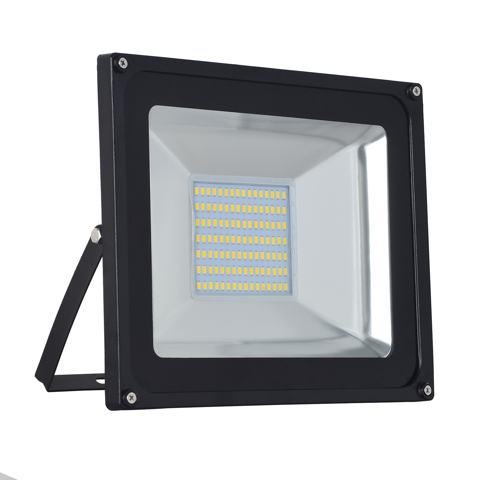 1-Pack 100W LED Floodlight,Low-energy Warm White Spotlight,IP65 Waterproof Outdoor&Indoor Security Flood Light Landscape Lamp