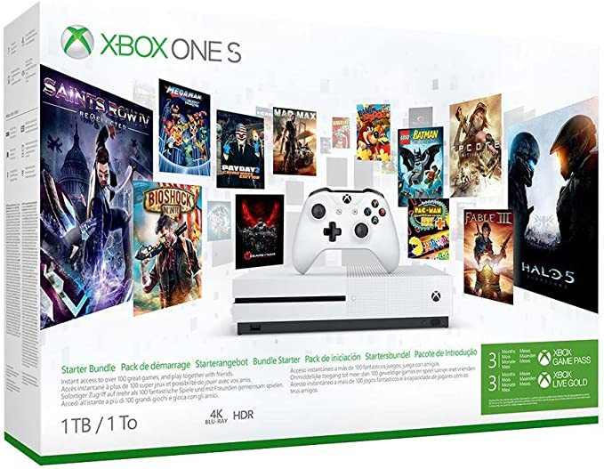 Xbox One S 1TB Console Starter Bundle with 3-month Xbox Game Pass and Xbox Live Gold [Importación inglesa]: Amazon.es: Videojuegos