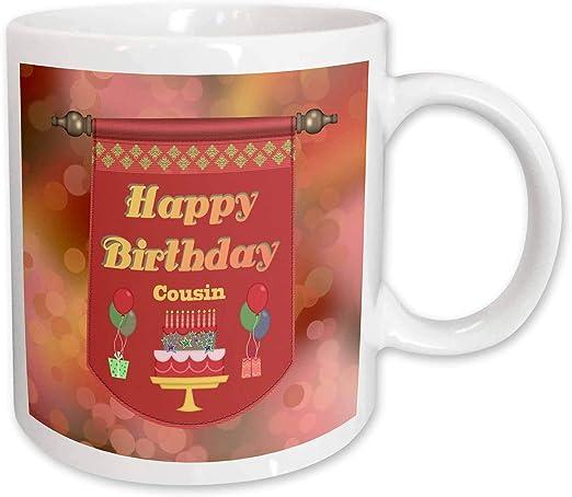 Admirable Amazon Com 3Drose Mug 186409 2 Happy Birthday Cousin Banner Cake Funny Birthday Cards Online Aboleapandamsfinfo