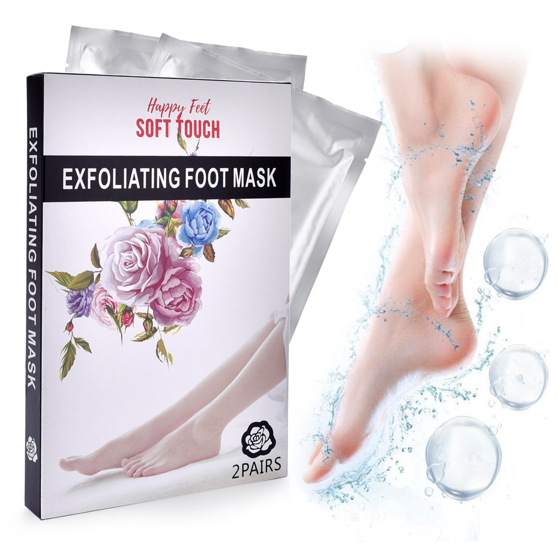 Foot Peel Mask, 2 Pairs Foot Peeling Mask, Exfoliating Foot Mask, Exfoliating Calluses and Dead Skin Remover, Repair Rough Heels, Best Natural Foot Care Peeling Moisturizing Mask for Men&Women