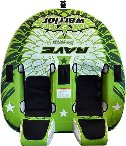 RAVE Sports Warrior 2 Recumbent Style 2 Person Towable Ski Tube PV1800048