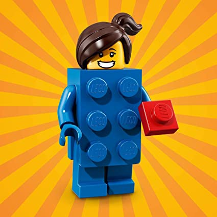 HAIR  X 1,PARTS New LEGO MINIFIGURES SERIES 18 LEGO BRICK SUIT GUY