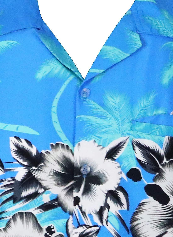 Fiori Tasca Frontale 6XL Stampa Hawaiana King Kameha Funky Camicia Hawaiana da Uomo XS Maniche Corte Stampa sul Petto
