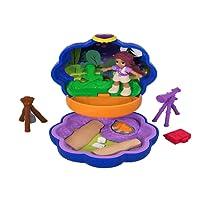 Polly Pocket Mini-Coffret bleu Shani Camping Aventure avec 1 Mini-Figurine et Accessoires Téléscope et Trousse de Secours, Jouet Enfant, édition 2018, FWN40