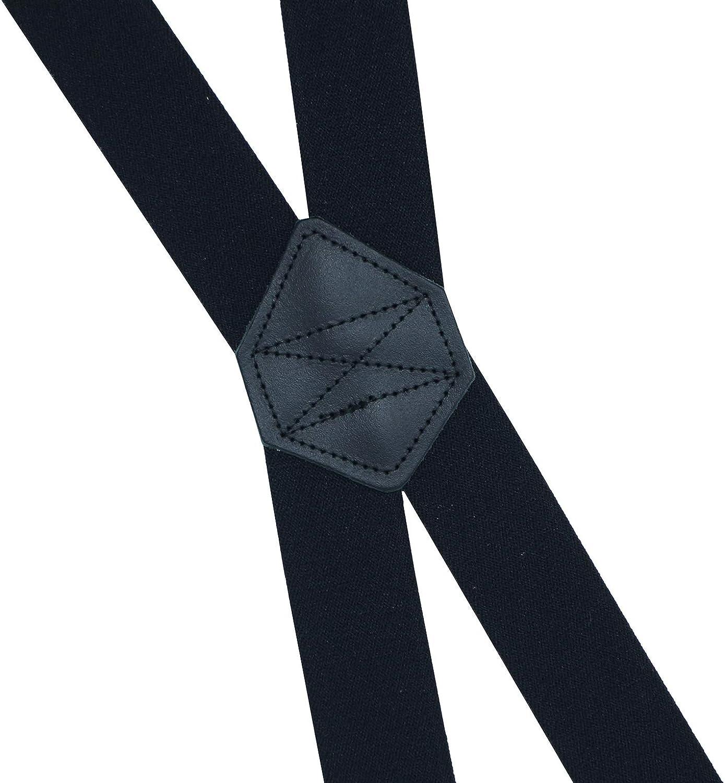 Bretelles de avec 4 clips tr/ès solides pour hommes et femmes Xeira  Forme en X