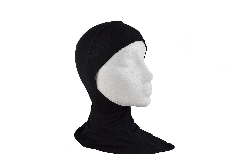 Saif Modesty Under Full Ninja Bufanda Hijab Negro Hueso capó ...