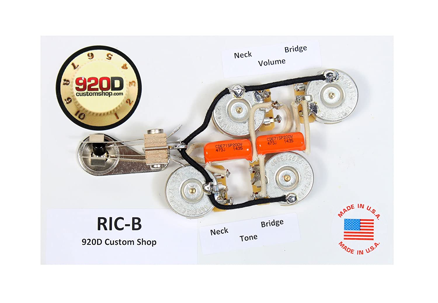 Amazon.com: Duncan SRB-1 Pickup Set for Rickenbacker Bass Guitar + 920D RIC-B  Wiring Harness: Musical Instruments