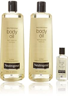 Amazon Com Neutrogena Moisturizing Sheer Body Oil Lotion Lightweight Fast Absorbing Sesame Oil Formula 32 Fl Oz Beauty