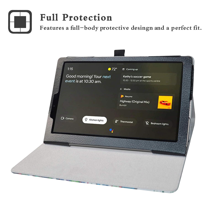 LFDZ Funda Lenovo Yoga Smart,Soporte Cuero con Slim PU Funda Caso Case para 10.1 Lenovo Yoga Smart Tab YT-X705F Tablet,Negro