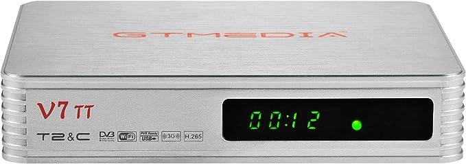 GT MEDIA V7 TT DVB-T/T2 Decodificador TDT Sintonizador, Receptor de TV por Terrestre Cable con Antena WiFi USB / Ethernet, H.265 HEVC 10bit Full HD ...