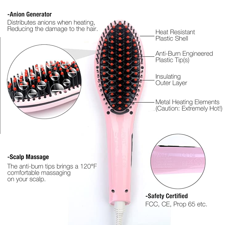 Anti-burn Technology of Hair Straightening Brush