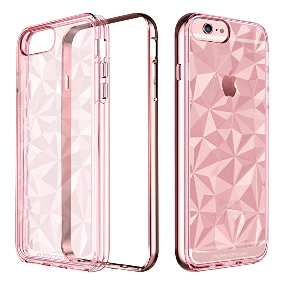 best service bdf4f ff35b BENTOBEN iPhone 6 Plus Case, iPhone 6S Plus Case, Clear Shockproof Slim  Geometric Design Hybrid TPU Chrome PC Frame Protective Phone Case for  iPhone 6 ...