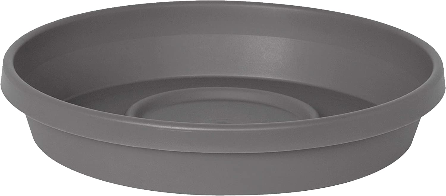 """Bloem STT24908 Terra Plant Saucer Tray for Planters 17-24"""" Charcoal"""
