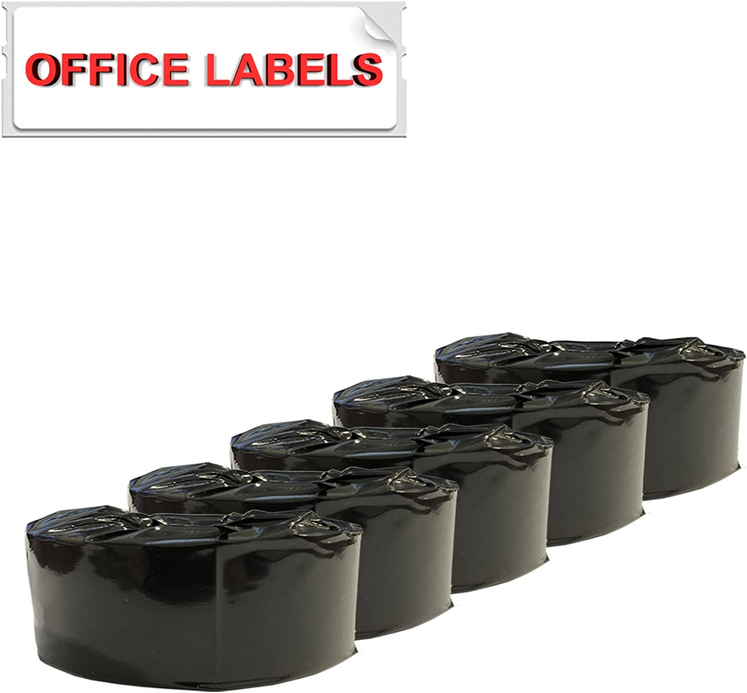 5 Rolls of SLP-2RLH Compatible Labels for Seiko SmartLabel 1-1//8 x 3-1//2 by OFFICE LABELS 28mm x 89mm