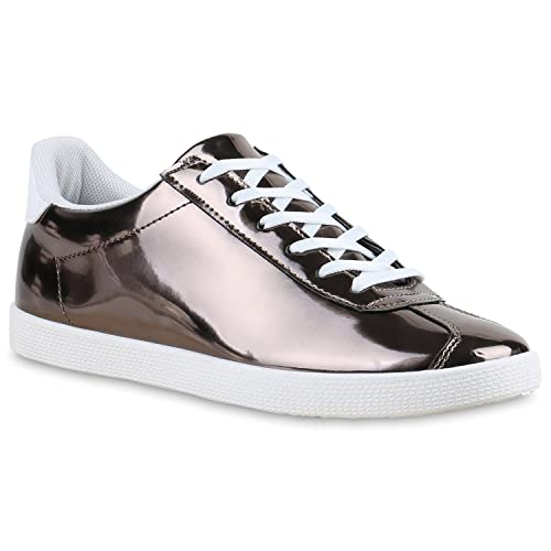 d414496152356 Stiefelparadies Damen Sneaker Low Basic Flandell