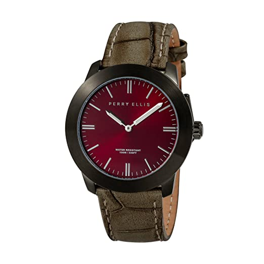 Perry Ellis Slim Line Unisex 42 mm Reloj de Cuarzo 07011 - 01: Amazon.es: Relojes