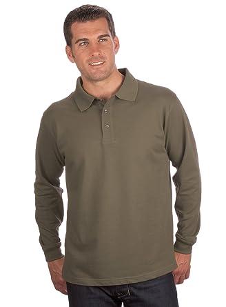Camiseta de manga larga de Quality, talla S a 8XL verde oliva ...
