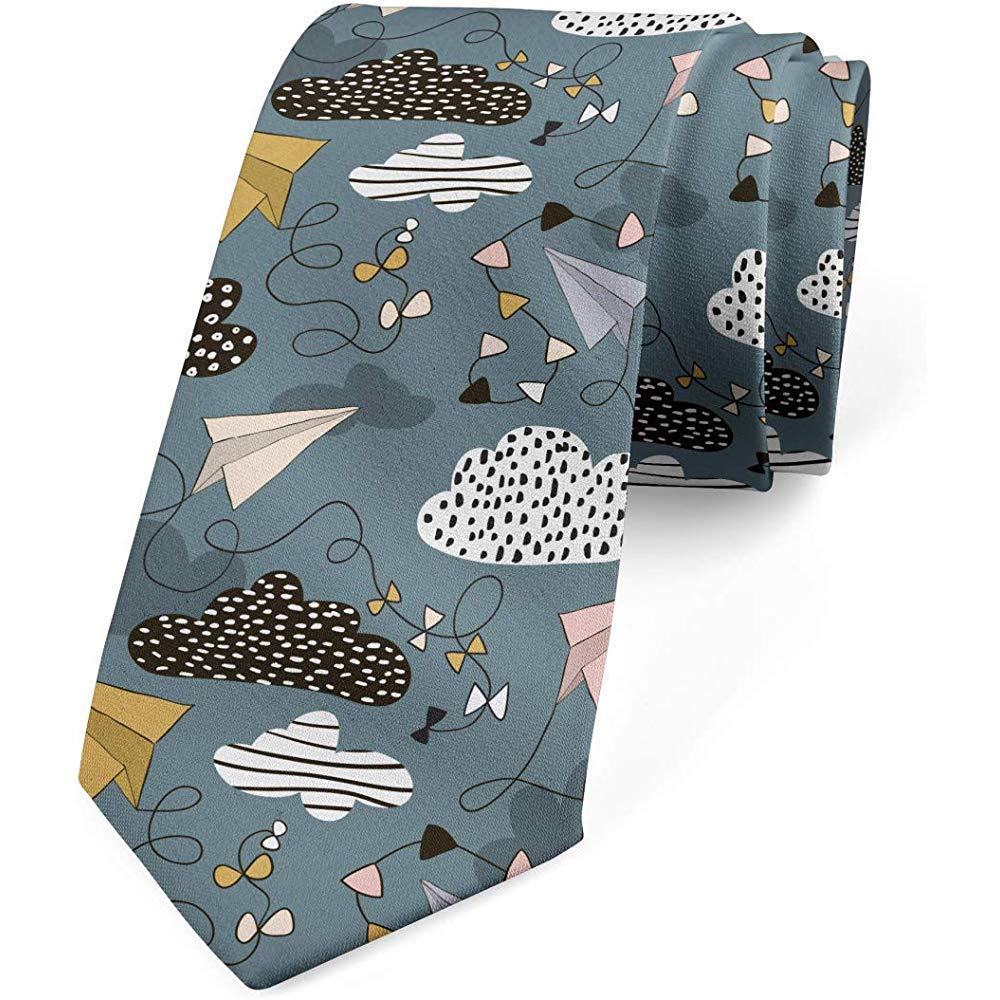 Corbata para hombre, Patrón de aviones de papel en colores pastel ...