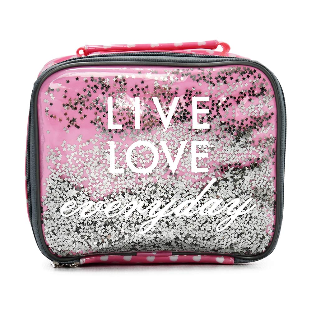Kid Lunch Boxes by Silverflye- Girls Insulated Lunch Box- Quality Lead Free Zipper, Stitching and Seams- Cute Girl Lunch Bag with Aluminum Insulation- Easy Cleaning- No Mold Build Up- Pink or Purple