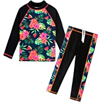 BAOHULU Girls Swimsuit Two Piece Tankini UPF 50+ UV Protective Rash Guard Set 3-12 Years
