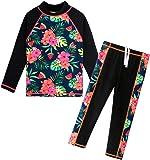 BAOHULU Girls Swimsuit Two Piece Tankini UPF 50+ UV Protective Rash