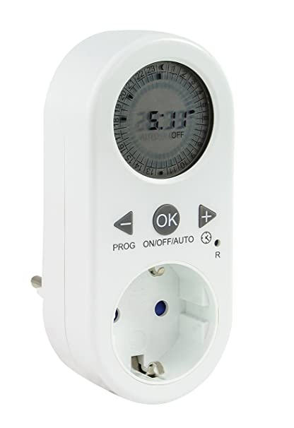 Enchufe temporizador digital 2 unidades de 4smile ǀ diarios mecánicos (con pantalla LCD.