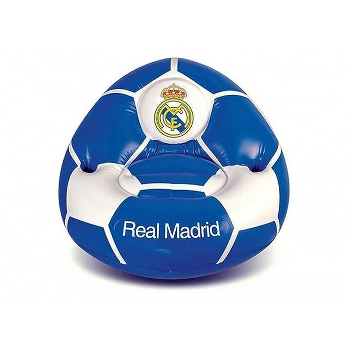 Real Madrid CF Official - Sofá hinchable (Talla Única/Azul ...