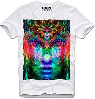 DOPEHOUSE T-Shirt Camiseta CHAKRA INDIA HIPPIE GOA MEDIATION TRIPPY PSYCHEDELIC GURU LSD