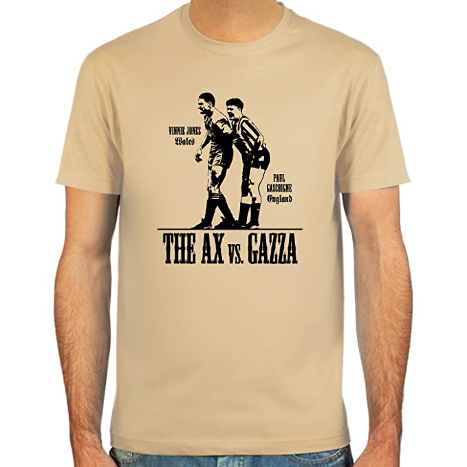 SpielRaum Camiseta Paul Gascoigne vs. Vinnie Jones ::: Color: azul claro,