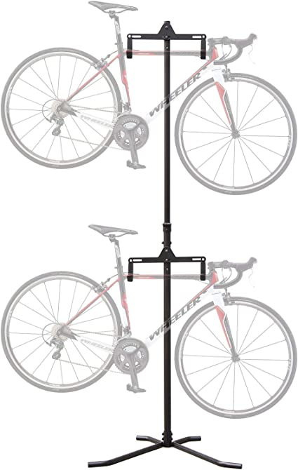 Freestanding Gravity 2 Bike Stand Two Bicycle Floor Mount Hanging Rack Storage