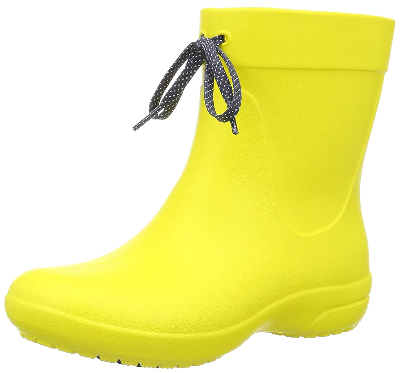crocs Damen Freesail Shorty Gelb Rain Boots Gummistiefel Gelb Shorty (Lemon) e49ad7