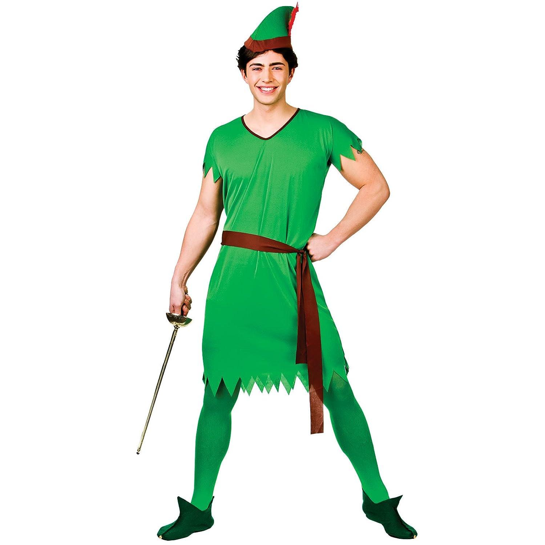 Adults Lost Boy Green Elf Robin Hood Fancy Dress Up Halloween Costume Outfit New Amazon.co.uk Clothing  sc 1 st  Amazon UK & Adults Lost Boy Green Elf Robin Hood Fancy Dress Up Halloween ...