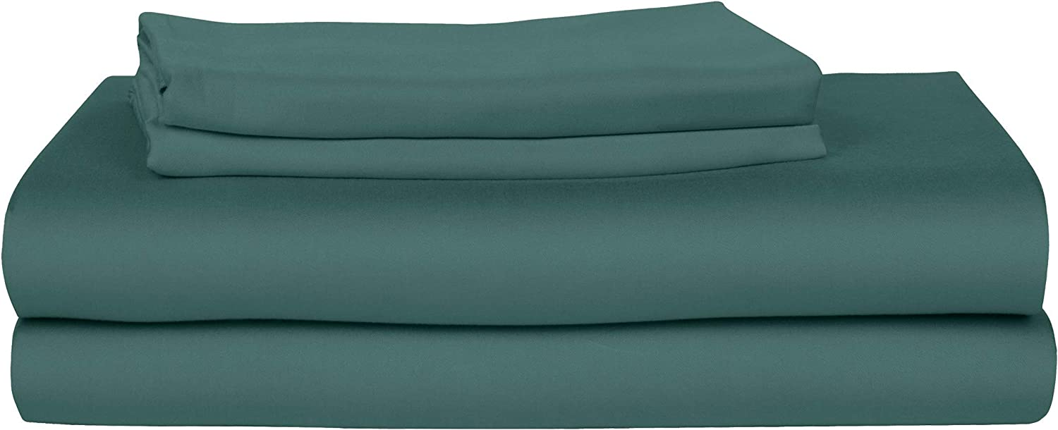 Bamboo Is Better Bed Sheets: Luxury 100% Bamboo Fiber Bedding, 4 Piece Bed Sheet Set. Soft, Breathable, Thermoregulating and Hypoallergenic Bedsheets (Split King, Teal)