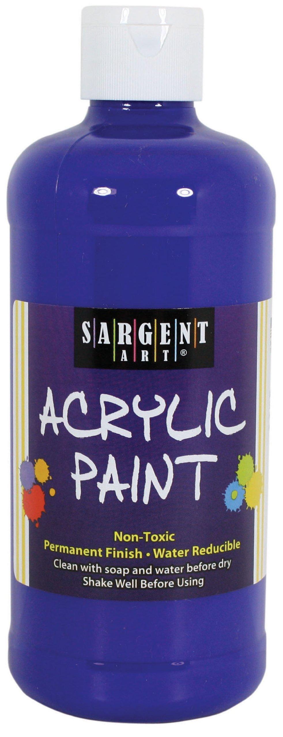 Sargent Art 24-2451 16-Ounce Acrylic Paint, Deep Ultramarine Blue