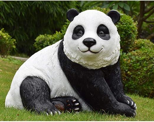xihongshi FRP, Simulación, Adornos De Animales Panda, Jardín ...
