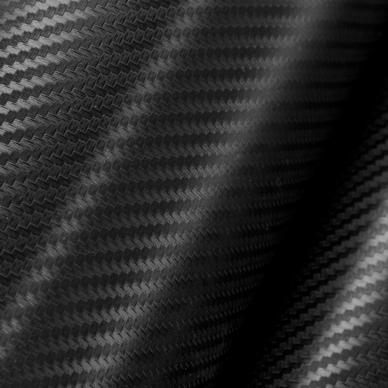 Black AURELIO TECH 4D Car Carbon Fiber Vinyl Wrap Film Sticker Sheet 12 Inch x 60 Inch