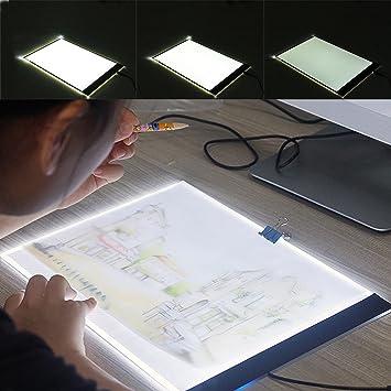 FUVOYA Ajustable A4 LED Caja de Dibujo Tabla de rastreo Ultra-Delgada Pantalla Almohadilla de luz Brillo para Artistas Dibujo