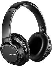 Mpow Bluetooth Kopfhörer Over Ear, Over Ear Kopfhörer mit Mikrofon, Dual 40mm Treiber & 3,5mm AUX, Memory-Protein Ohrpolster für Handy/Tablets/PC/TV