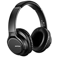 Mpow H7 Bluetooth Headphones, Foldable Stereo Wireless Over Ear Headset with Microphone, Memory-protein Earpad 15 Hours Playtime Supports Hands-Free Calling and Wired Mode for Cellphone/Tablets/PC/TV