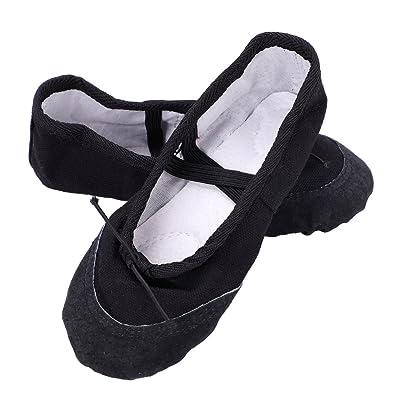 6b1b6153e2ce0 Ballet Chaussure de Danse Filles Chaussons de Danse Classique Ballerine  Enfants Chaussures Plates Ballet Shoes Doux