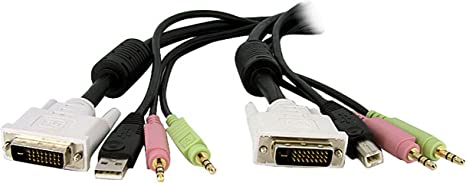 StarTech USBVGA4N1A6 StarTech.com 6 ft 4-in-1 USB VGA KVM Switch Cable with Audi