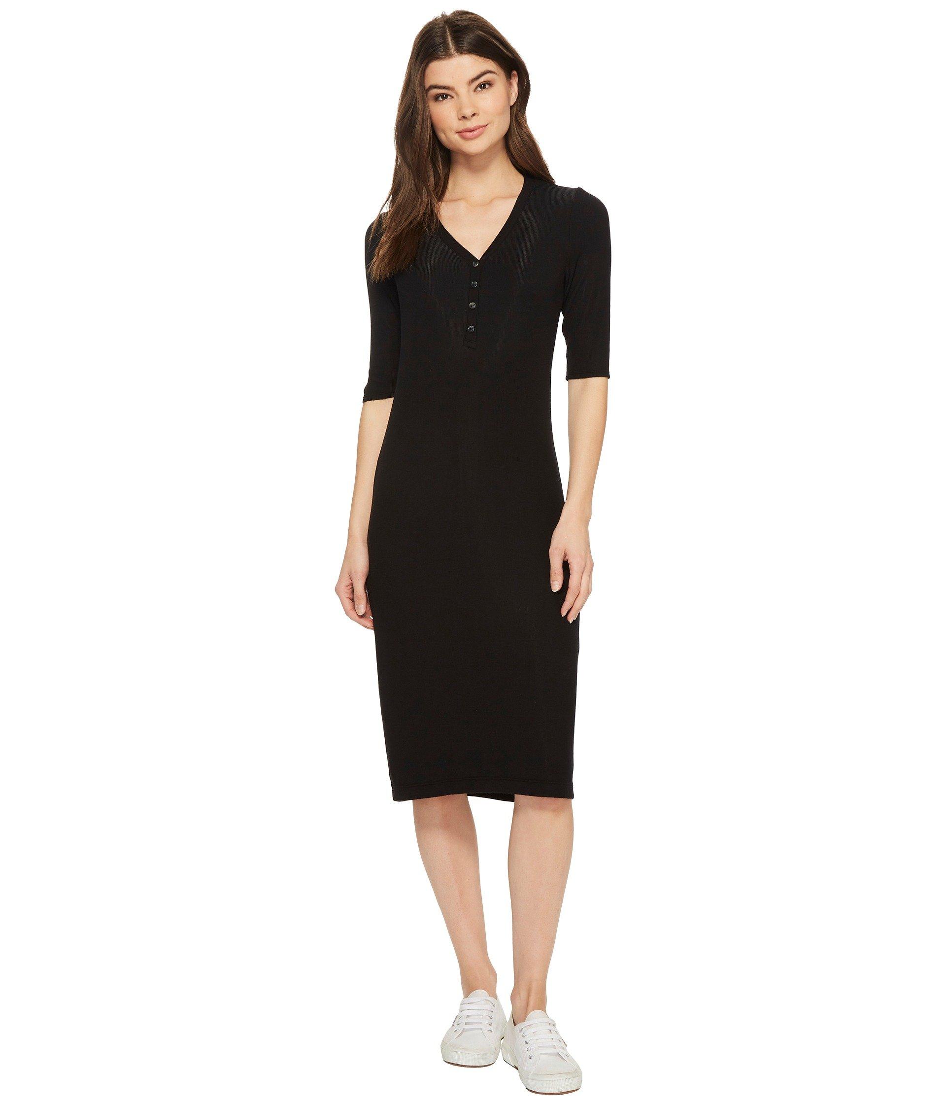 Splendid Women's Henley Dress, Black, M