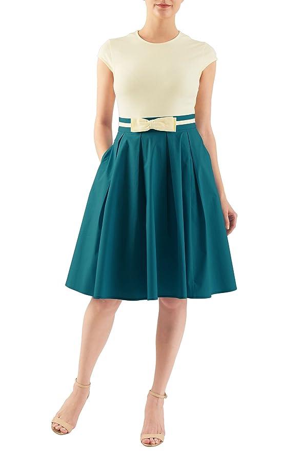 Plus Size Retro Dresses eShakti Womens Riley dress $52.95 AT vintagedancer.com