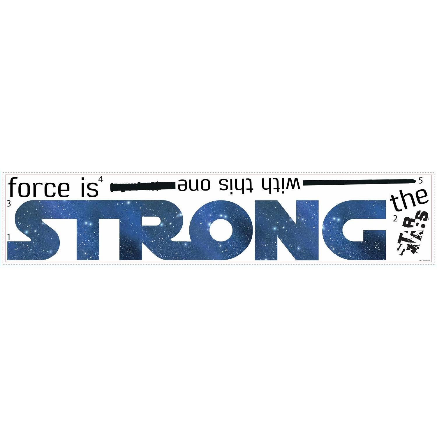 RoomMates Star Wars Classic The Force Is Strong Quote Peel and Stick Wall Decals York Wallcoverings RMK3077SCS