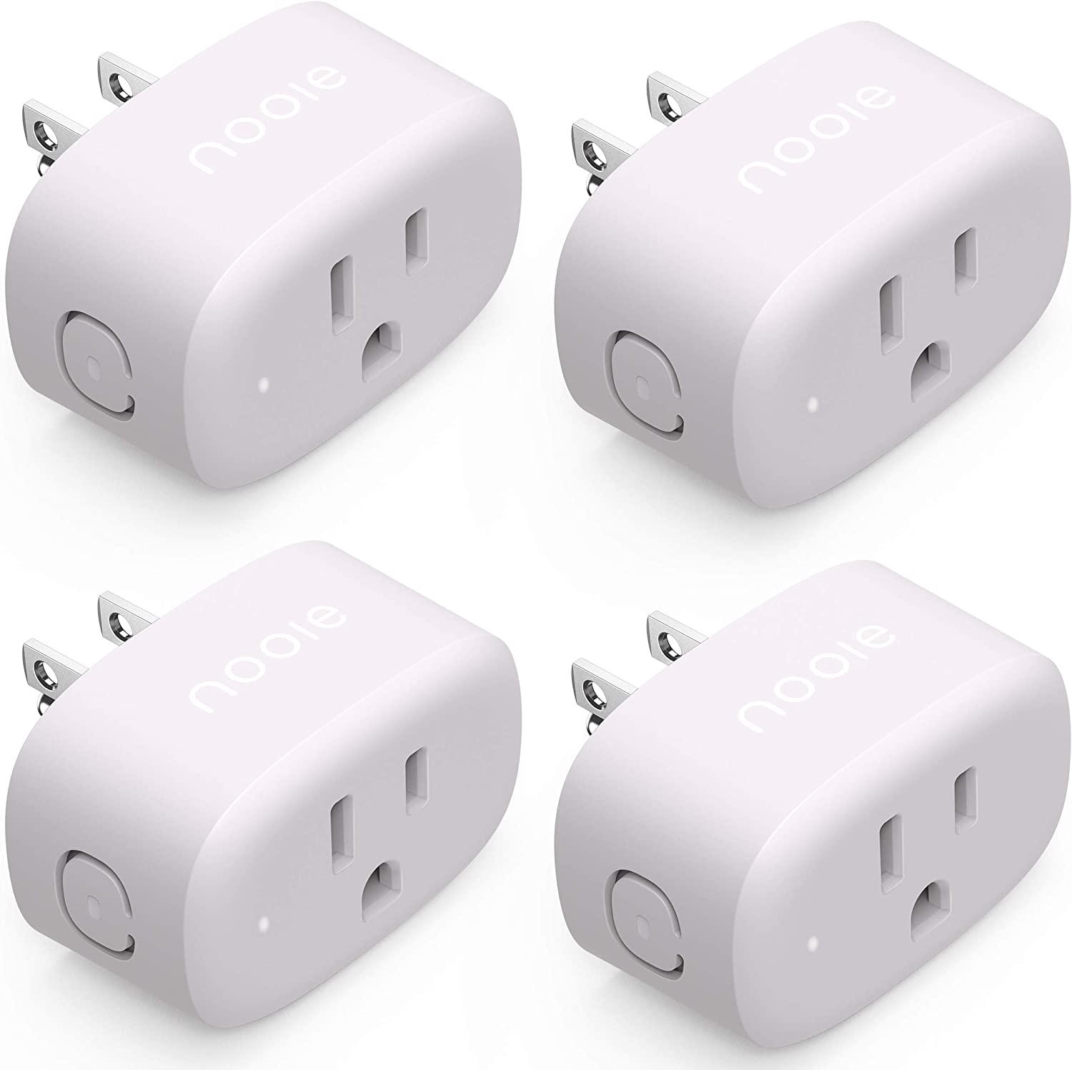 Nooie Smart Plug Works with Alexa Google Home for Voice Control WiFi Mini Smart Outlet with Schedule Timer Child Lock Function and ETL Certified No Hub Required, 4 Packs