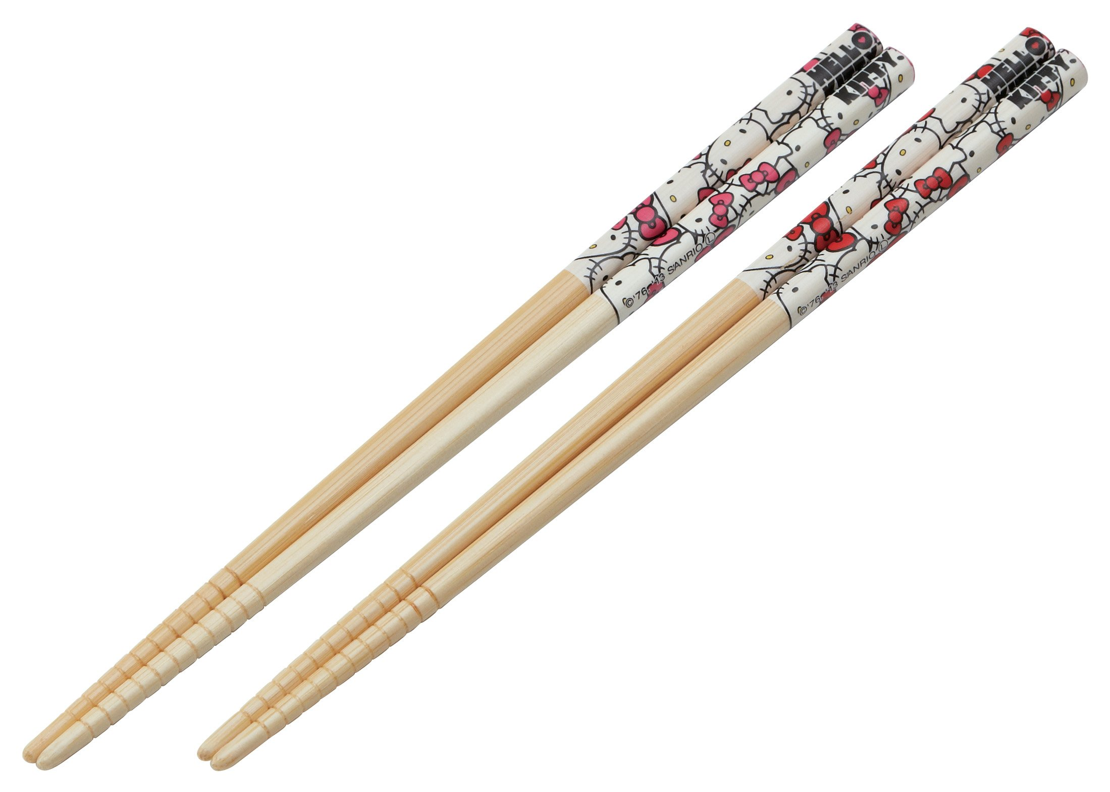 Sanrio Hello Kitty Design Japanese Bamboo Chopsticks (Set of 2 Pairs)