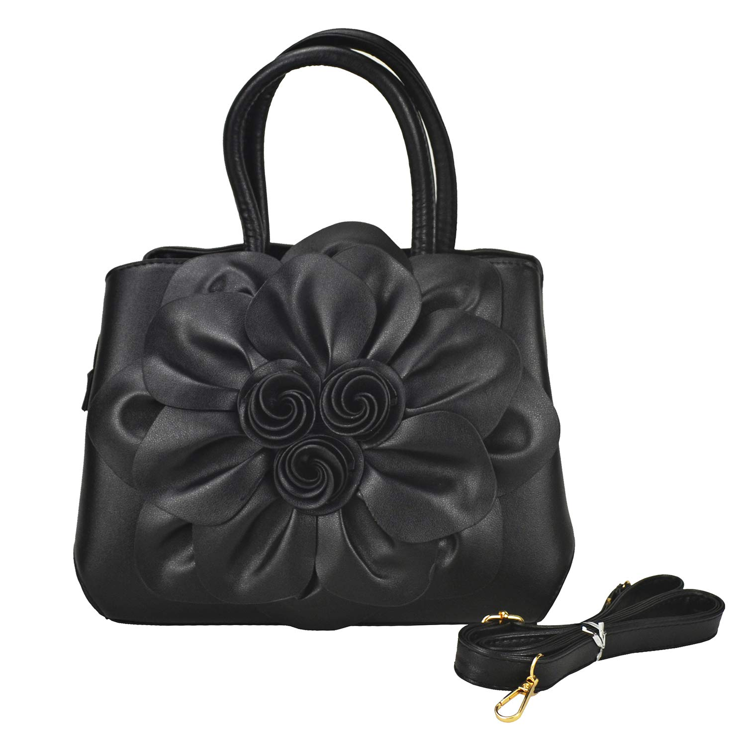 Women s Flower Leather Top-Handle bag Small Floral Shoulder Bag Designer  Handbags Handmade Purse-Sibalasi