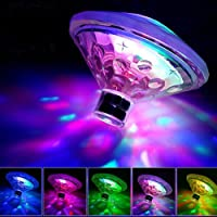 7 Color LED Swimming Pool Light Battery Powered Water Drifting Lamp Waterproof Underwater Pond Lighting Decor with RGB Flashing Lights for Indoor Outdoor Fountain, Waterfall, Spa, Bathtub, Vase
